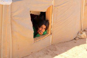 Girl in Zataari refugees camp © Tom Rübenach